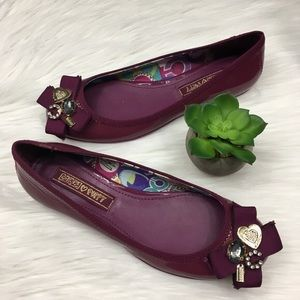 2for150🛍Coach puppy purple patent leather flats